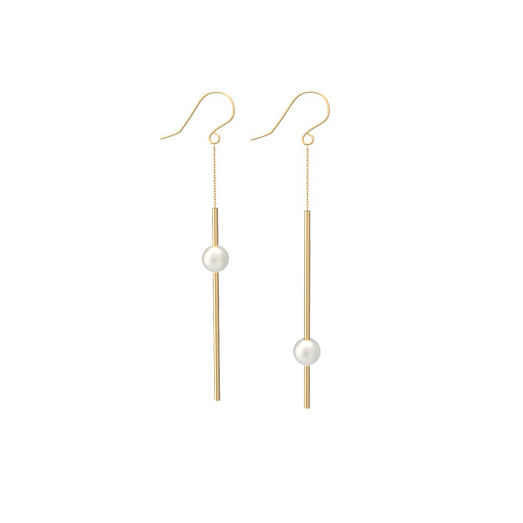 14K Gold Filled Asymmetrical Pearl Drop Earrings