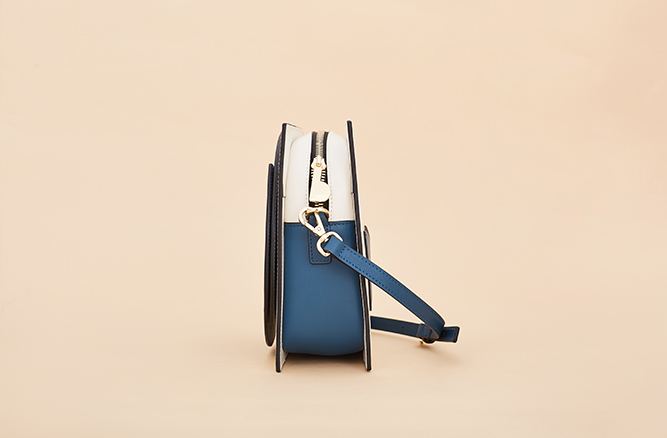 Blue Color Blocks Square Crossbody Bag (Pre-order) - AHED Project