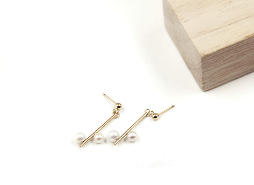 Minimalist Serenade 14K Gold Filled Pearl Earrings (Quick to ship) - AHED Project