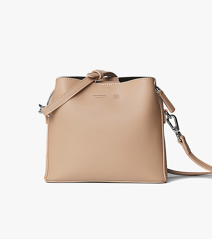 Soft Tone Simple Classic Spacious Crossbody Bag - Beige - AHED Project