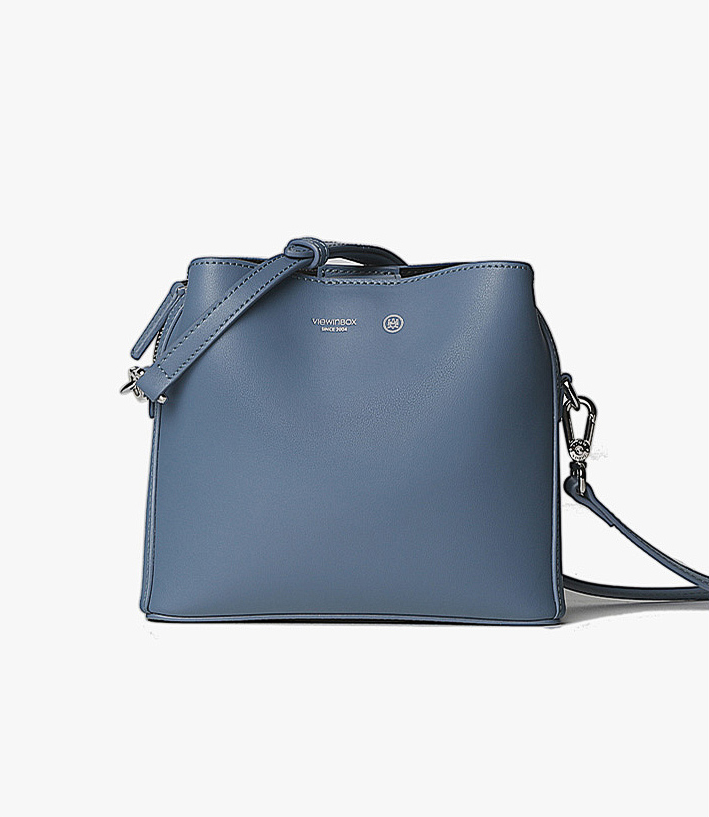 Simple Classic Spacious Crossbody Bag - Smokey Pink/Deep Sea Blue - AHED Project