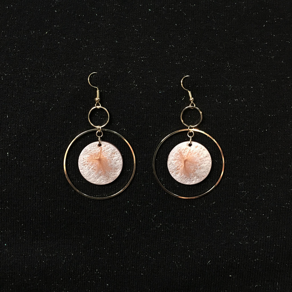 Pearlescent Full Moon Drop Hoop Earrings - AHED Project