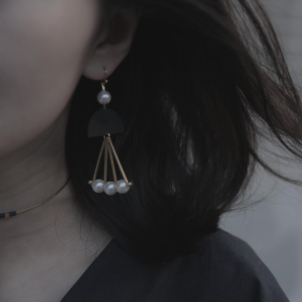 Newton's Cradle Inspired Drop Earrings (Quick to ship) - AHED Project
