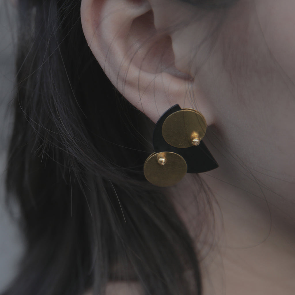 Retro Orbital Discs Stud Earrings (Quick to ship)