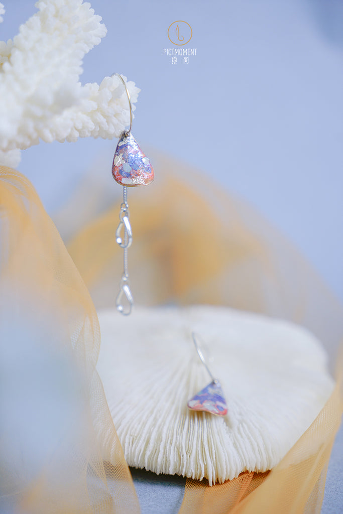 Coral Sea Series Hand-Painted Teardrop Earrings - AHED Project