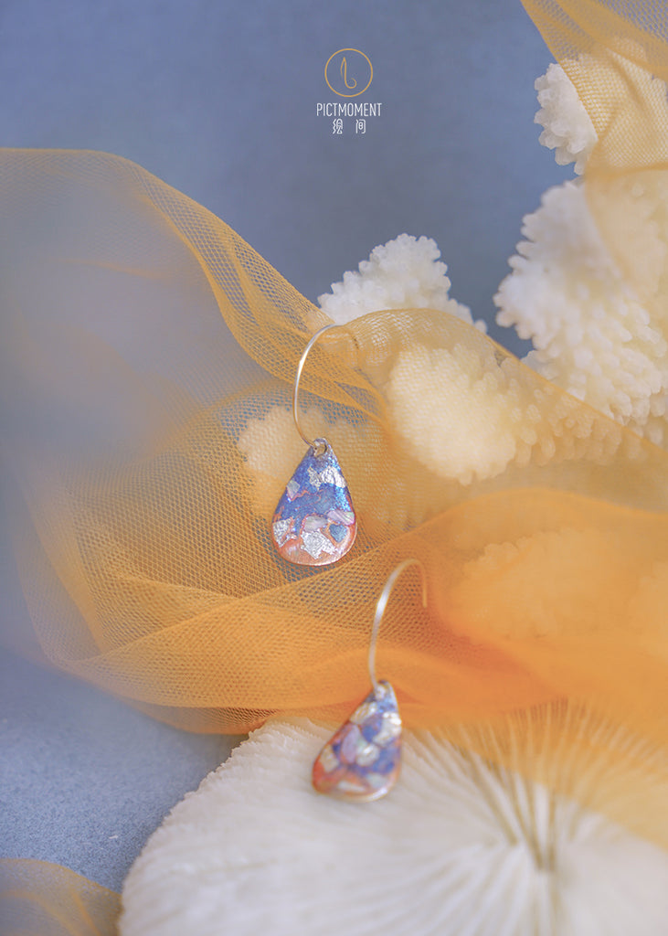 Coral Sea Series Hand-Painted C Shape Hook Earrings - AHED Project