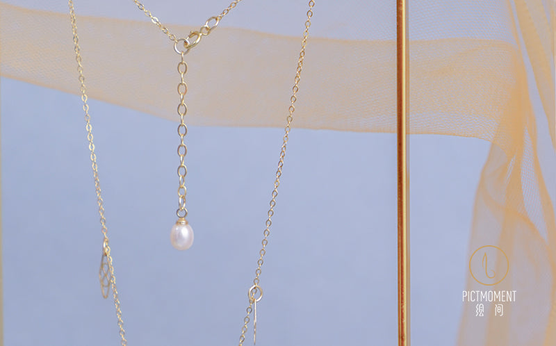Coral Sea Series 14K Gold Filled Pearl Drop Necklace