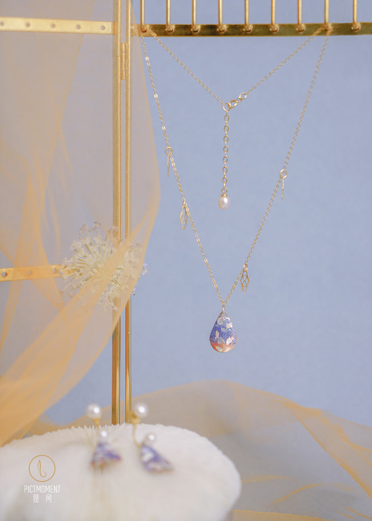 Coral Sea Series 14K Gold Filled Pearl Drop Necklace - AHED Project