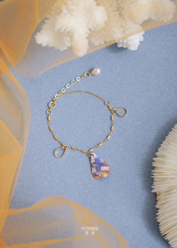 Coral Sea Series 14K Gold Filled Pearl Drop Bracelet - AHED Project