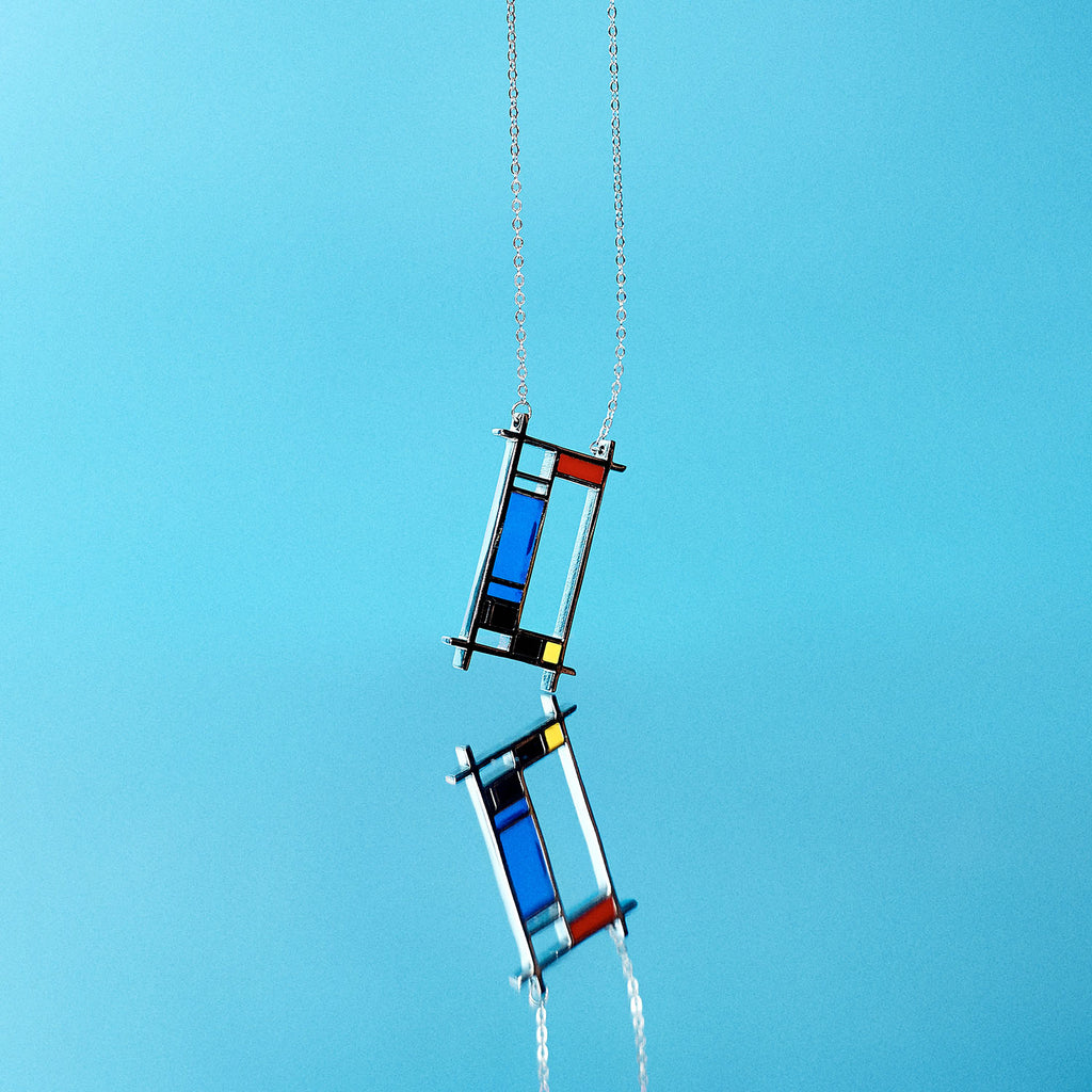 Mondrian-inspired Pendant Necklace - AHED Project