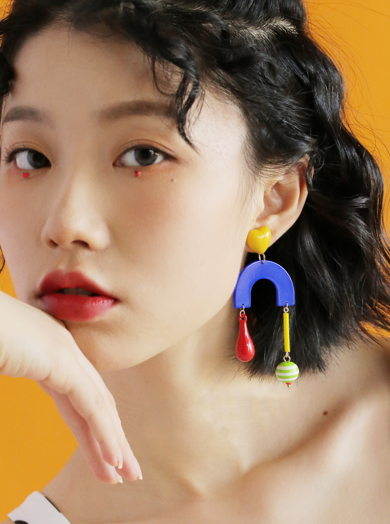 Circus Series - Candy Carousel Drop Earrings