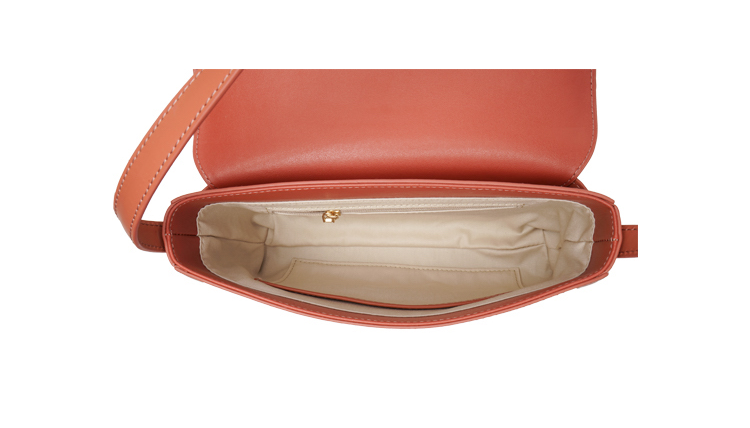 Box Calf Shoulder/Underarm Bag - Muted Coral