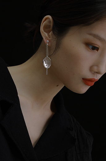 The Magnificent Peony Series - Cutout Peony Stud Drop Earring