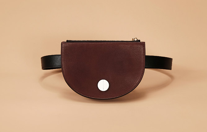 Half Moon Chic Leather Belt Bag-Brown - AHED Project