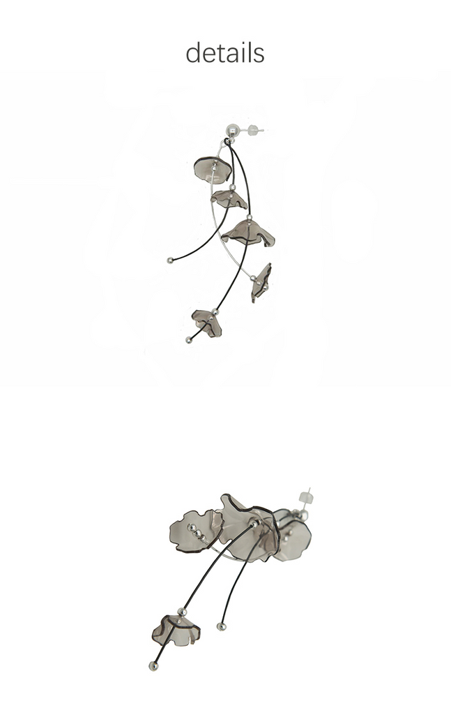 Smoky Bloom Series -Wind Chimes Drop Earring - AHED Project