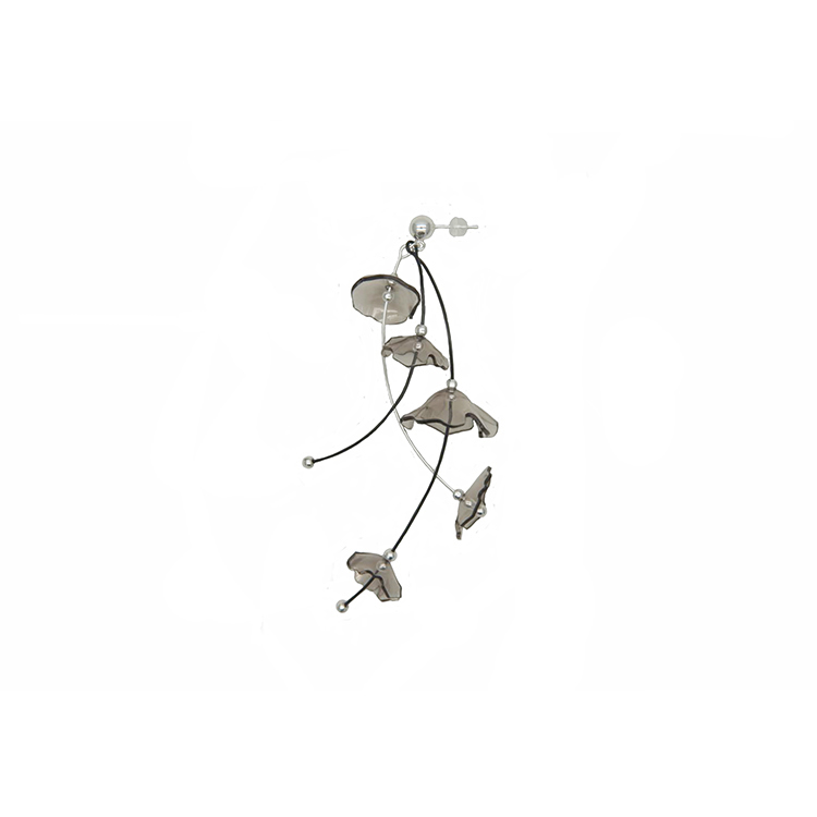 Smoky Bloom Series -Wind Chimes Drop Earring