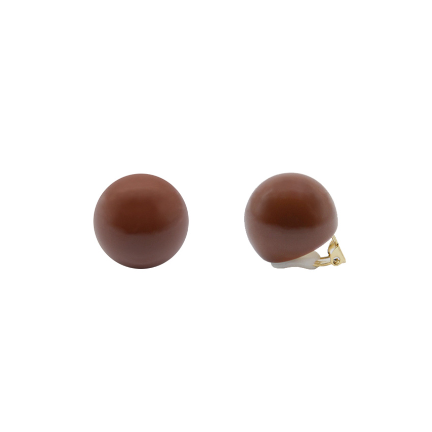 Hard Candy Series - Chocolate Ball Clip-On Earrings
