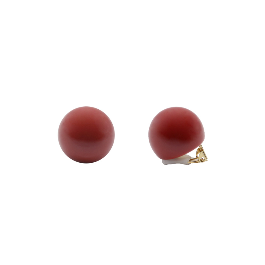 Hard Candy Series -Cherry Ball Clip-On Earrings