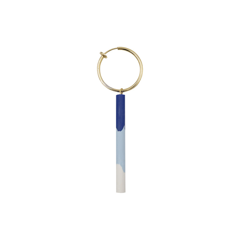 Klein Blue Hybrid Clay Drop Bar Ear Clips (Quick to ship) - AHED Project