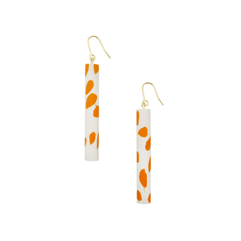 Polka Dot Round Bar Drop Earrings (Quick to ship)