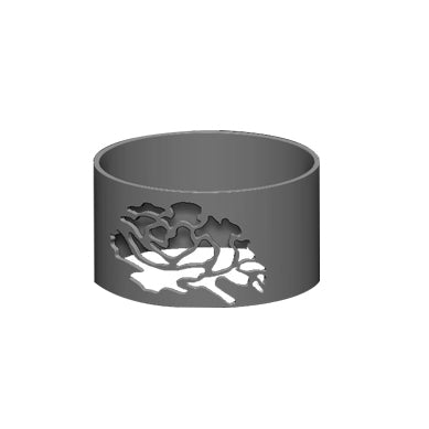 The Magnificent Peony Series - Cutout Sterling Ring