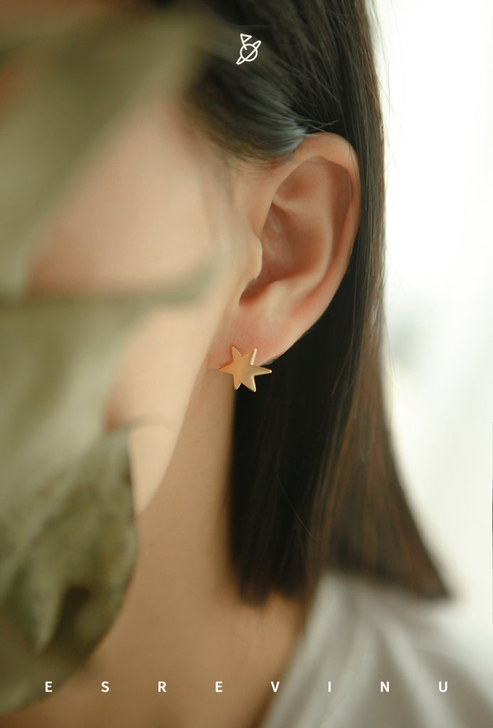 Gold Plated Shooting Star Earrings - AHED Project