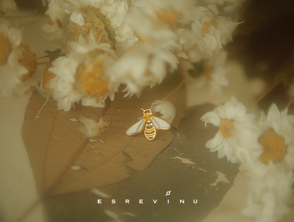 Gold Plated Honey Bee Brooch Pin