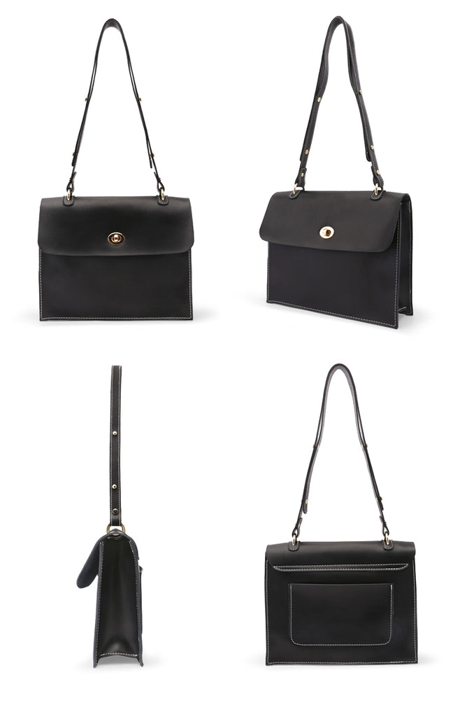 Soft Leather Briefcase Two-Way Wear Shoulder Bag - AHED Project