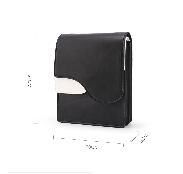 Indie Design Black and White Structured Crossbody Bag - AHED Project