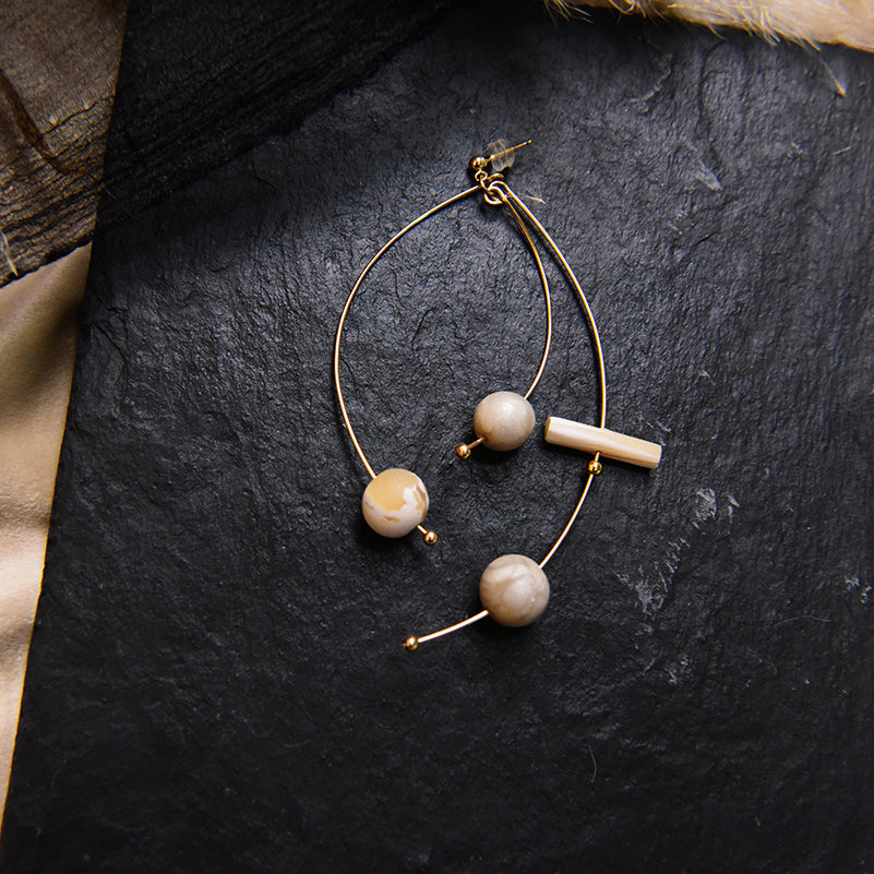 Scattered Clay Beads Stud Earrings