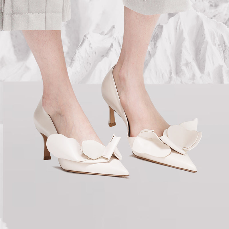 Endless Joy Pointed Toe Ruffled Pumps - 2 Shades - AHED Project