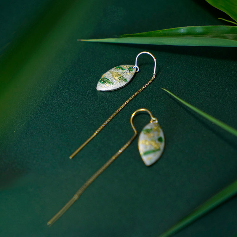 Bamboo Forest Series - Threader Earrings - AHED Project