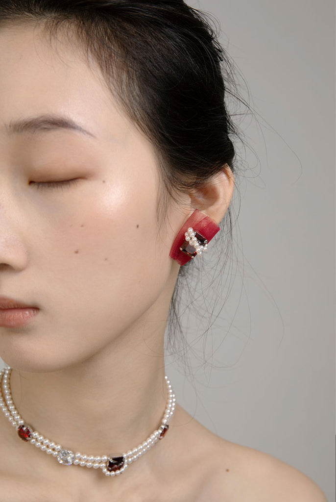 PROMISE Series - Romantic Organza Clip-On Earrings