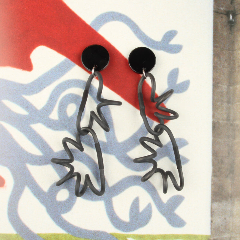 Playful Squiggly Links Statement Earrings