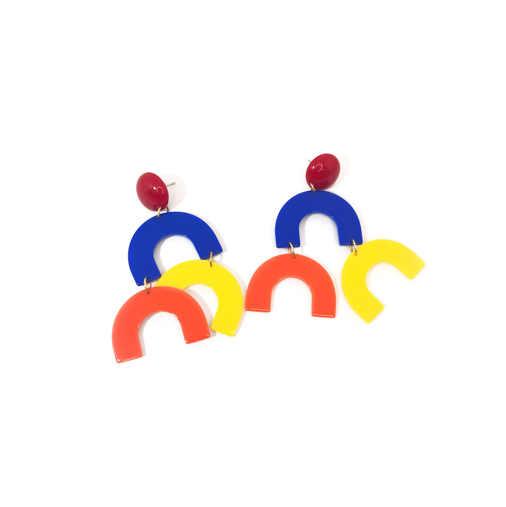Circus Series - Stacked Candy Arch Drop Earrings