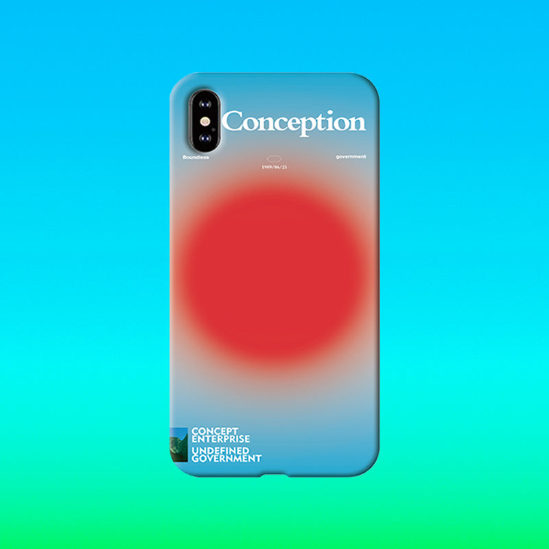 Conception Lab Original - RED SPHERE [Shockproof Soft TPU Phone Case]