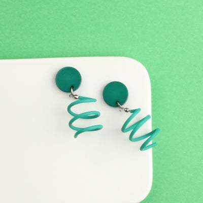 Candy Palette Drop Spring Stud Earrings - AHED Project