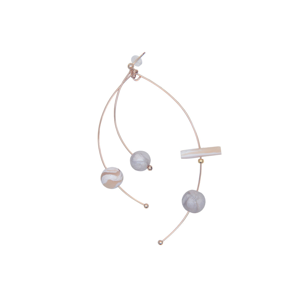 Natural Melody Series-Scattered Clay Beads Stud Earrings - AHED Project