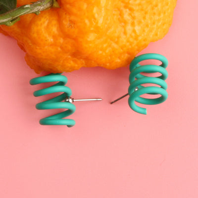 Fun Color Spring Stud Earrings - AHED Project