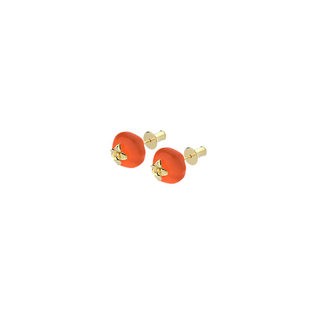 Auspicious Persimmon Series Stud Earrings