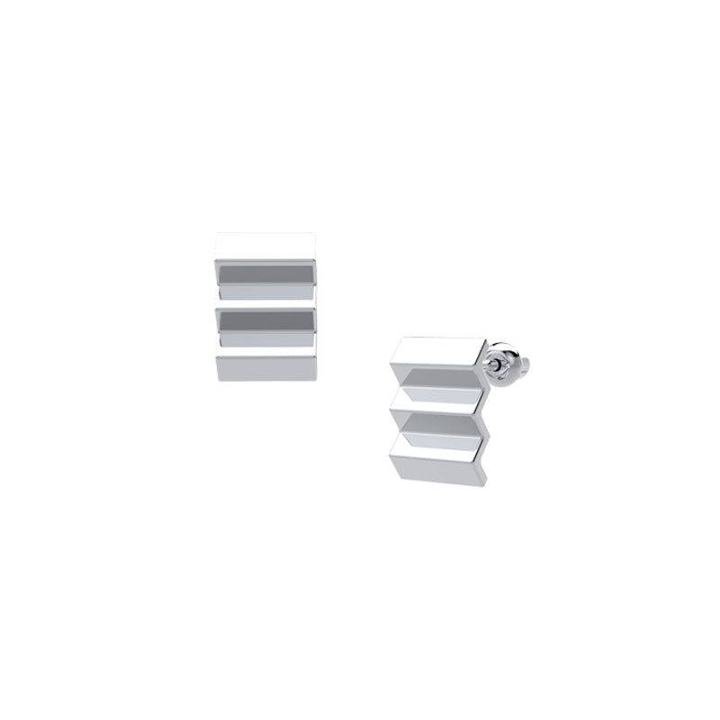 Architecture Series - Staircase Stud Earrings