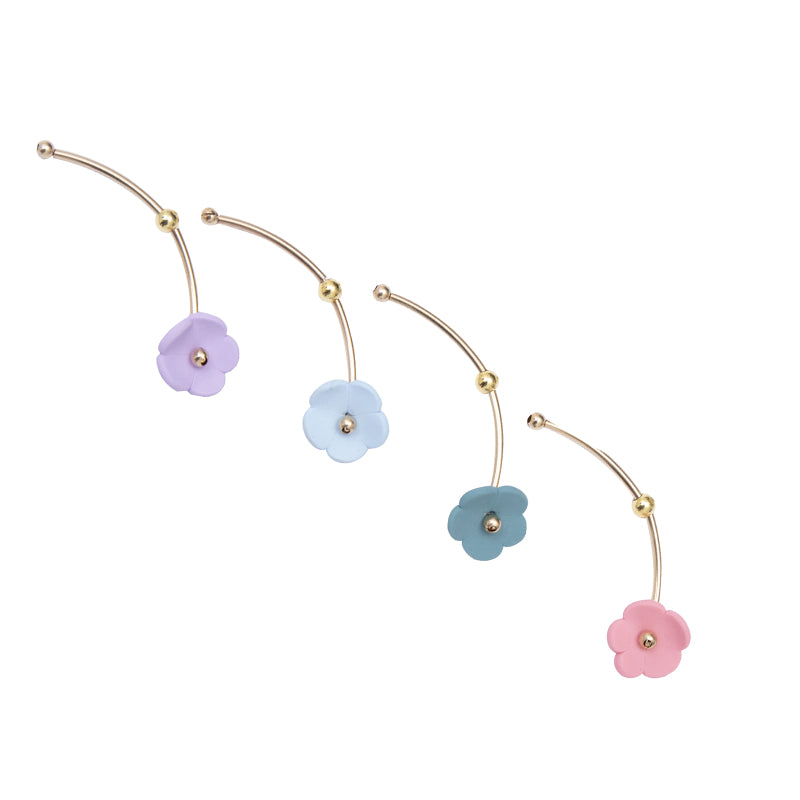 Little Flowers Series - Flower with Stem Stud Earring