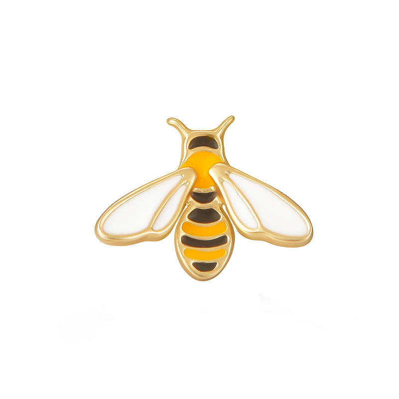 Gold Plated Honey Bee Brooch Pin - AHED Project