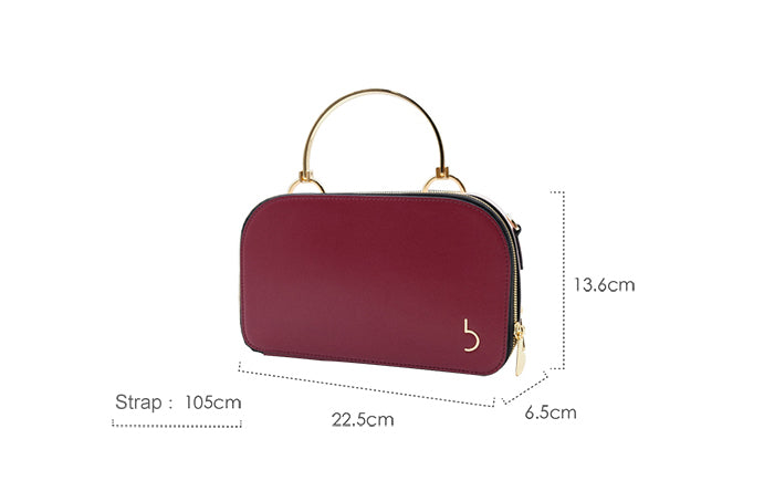 Top Handle Zipper Crossbody Box Bag - 2 Shades