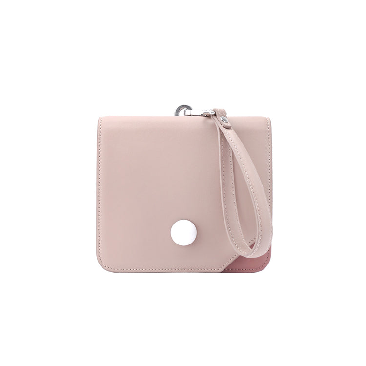 Elegant Pink Square Wristlet/Crossbody Bag - AHED Project