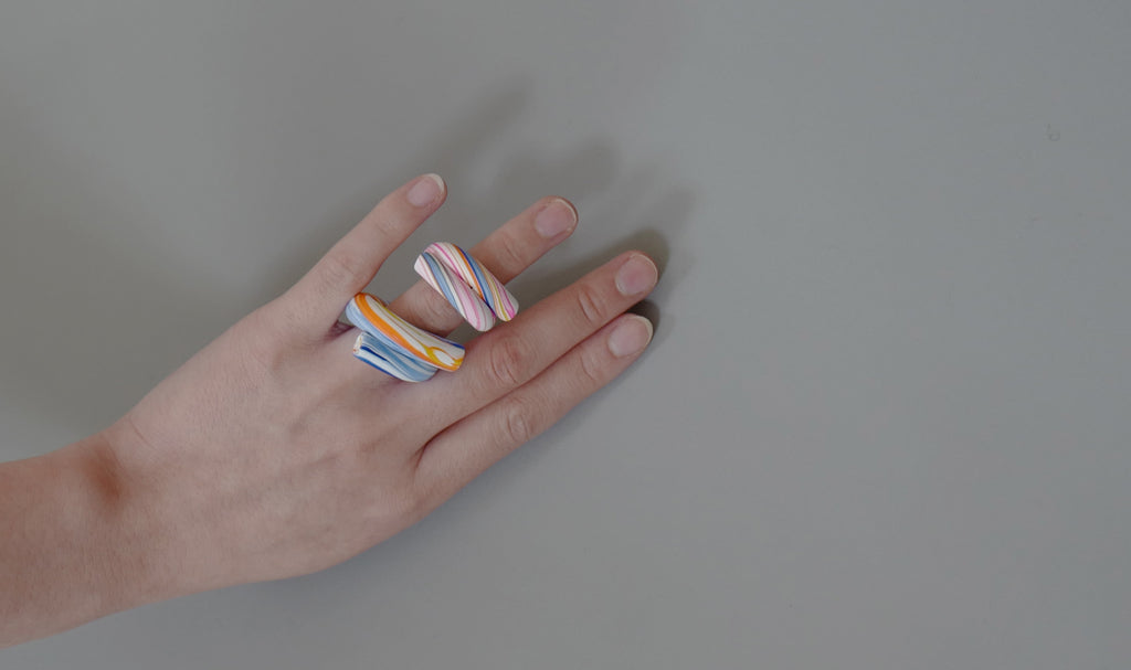 Statement Blended Clay Twirl Ring