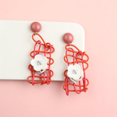 Playful Squiggly Plaiting Statement Earrings - 4 Colors