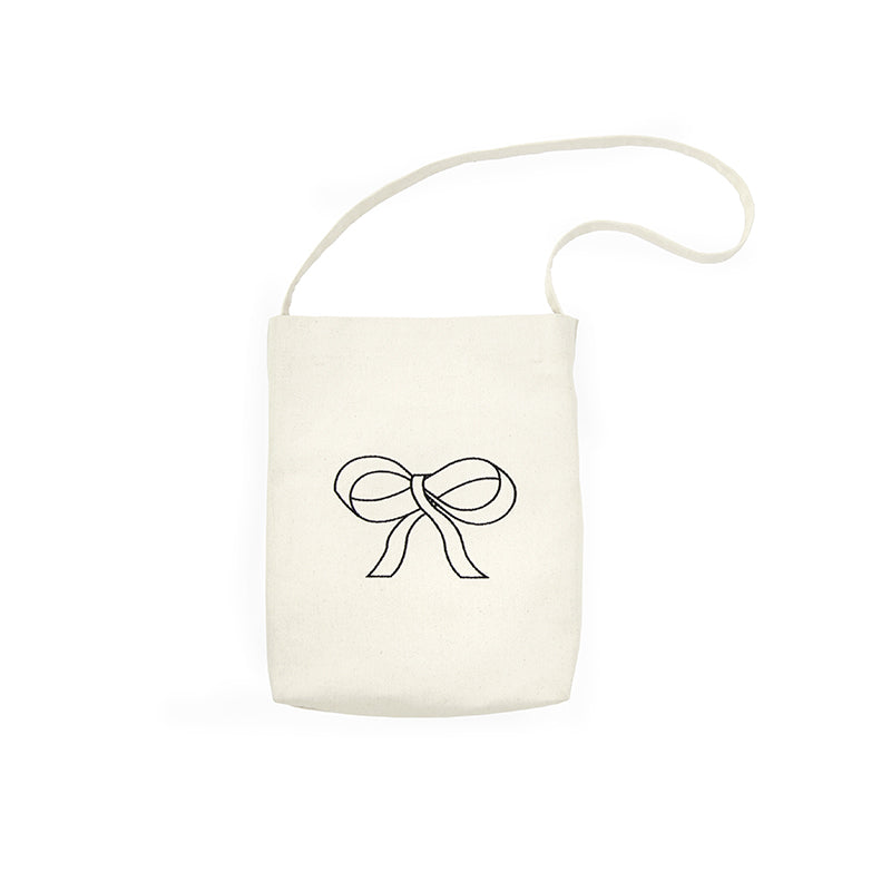 Bow Embroidery Multifunction Canvas Tote Bag - AHED Project