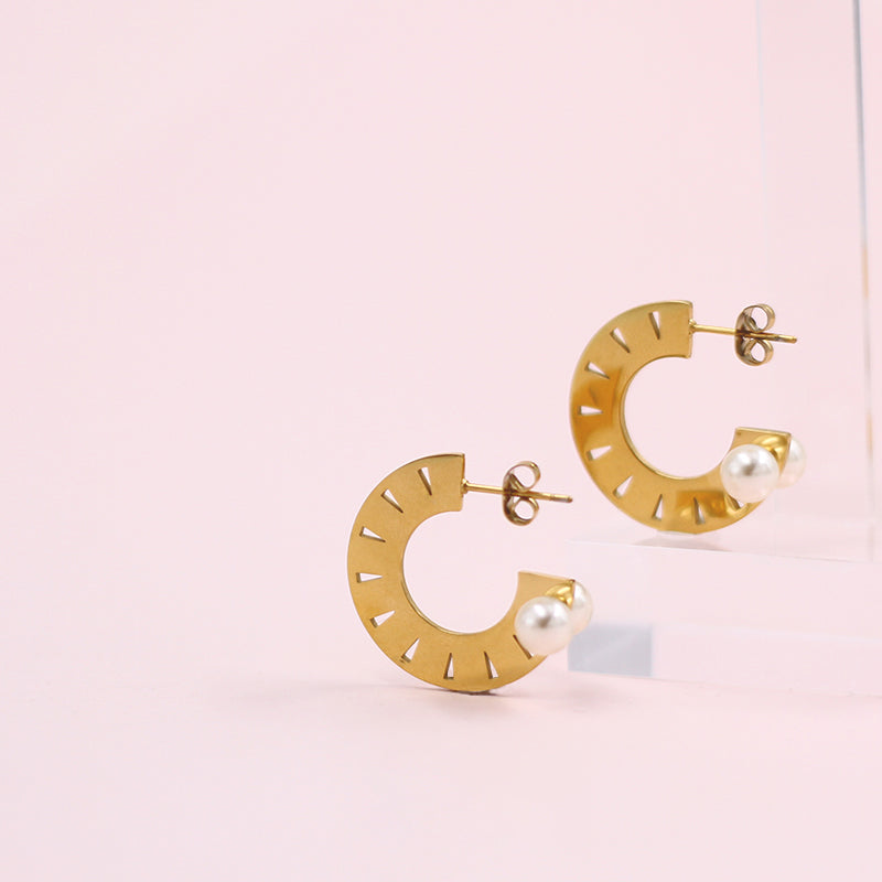Classic Half Circle Huggie Hoop Earrings
