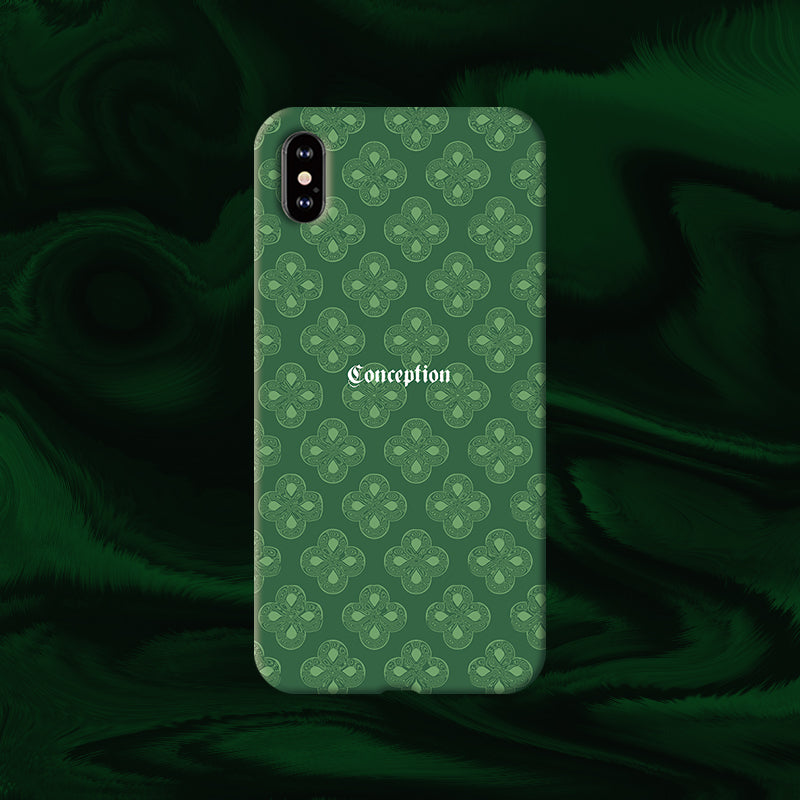 Conception Lab Original - GREEN MONOGRAM [Shockproof Soft TPU Phone Case]